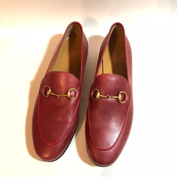 44e57d33319 Gucci Shoes - GUCCI Jordaan leather horsebit red  730 🧚🏼 ♂️